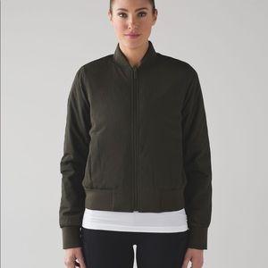 Lululemon olive bomber jacket